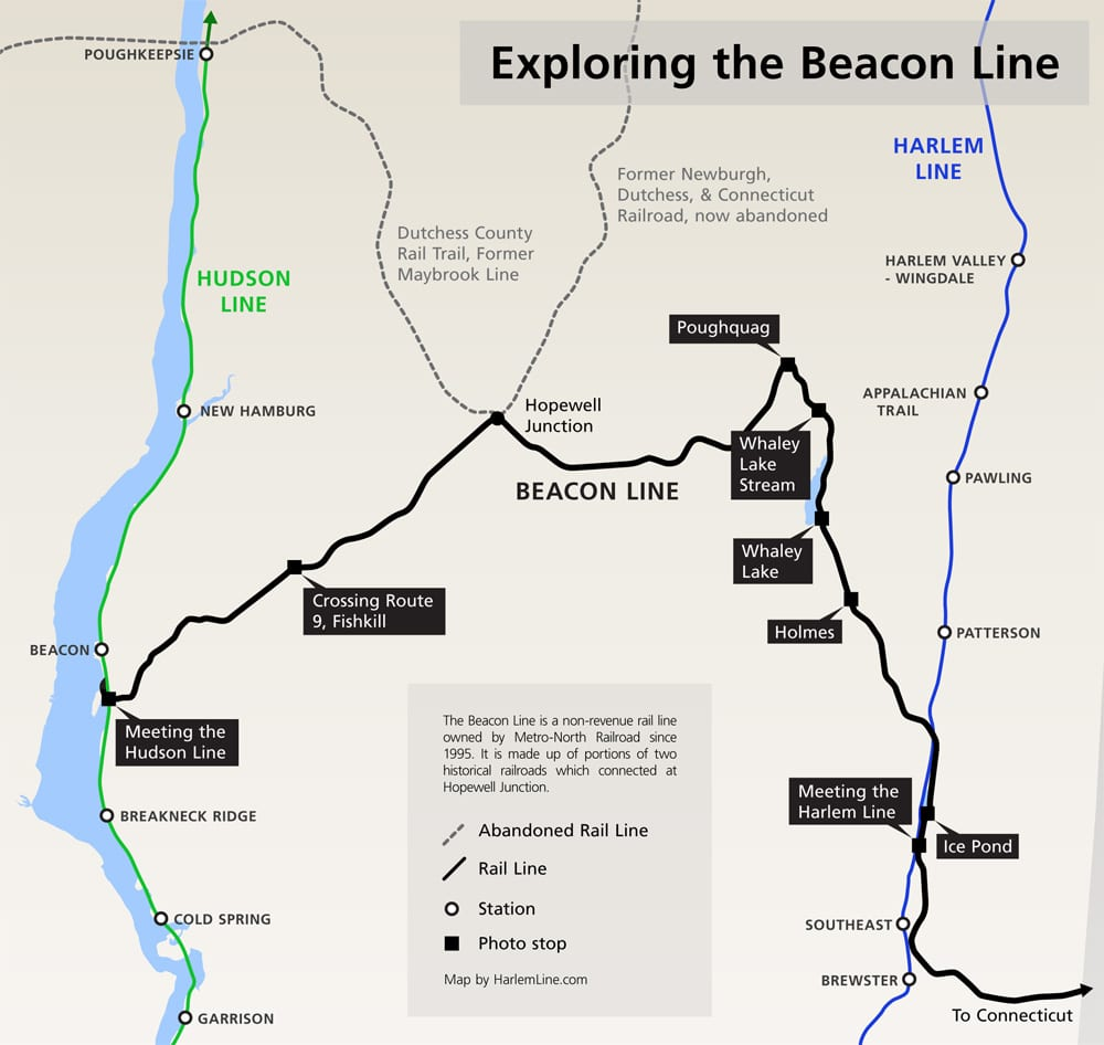 map of the beacon line. springtime exploration the beacon line – i ride the harlem line…