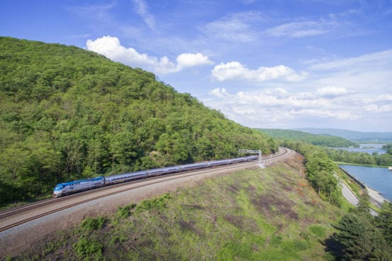 The Pennsylvanian eases onto the famed Horseshoe Curve