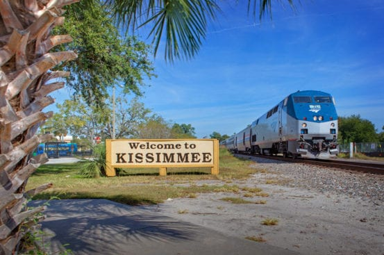 Amtrak's Silver Star arrives at Kissimmee