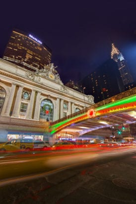 Back to NYC and the new holiday lights on the Park Avenue Viaduct