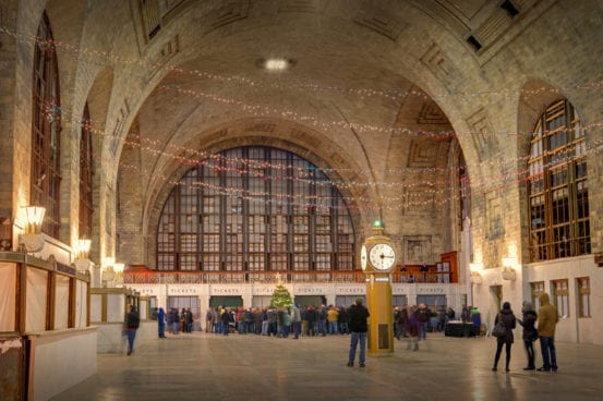 The Christmas tree lighting at Buffalo Central Terminal