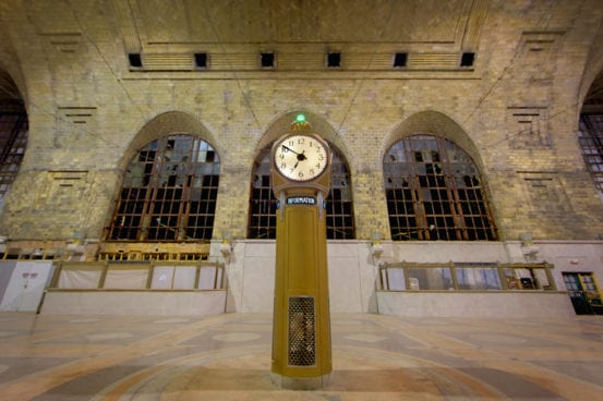 The clock at Buffalo Central Terminal
