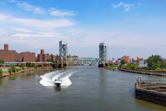 Crossing the Harlem River Lift Bridge