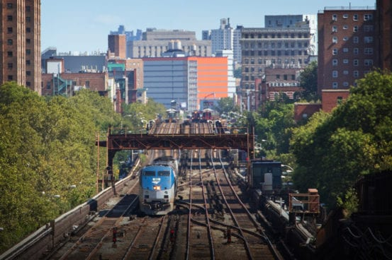 Remember NICK! Amtrak passes by what was NICK tower. After the Penn Central merger, the NYC's NK (New yorK) tower was referred to as NICK to differentiate it from the Pennsy's NK (NewarK) tower
