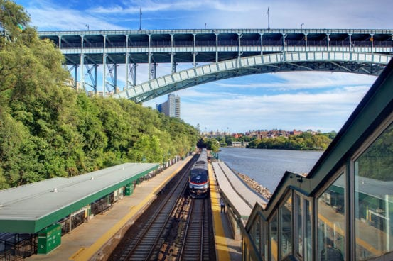 Passing through Metro-North's Spuyten Duyvil station
