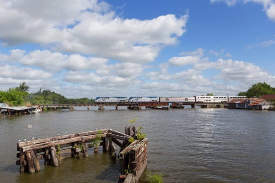 Sunset Limited crosses the Bayou des Allemands