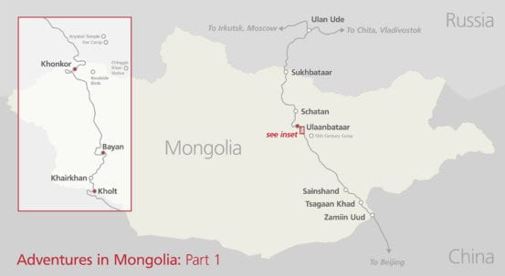 Mongolia Travel Map