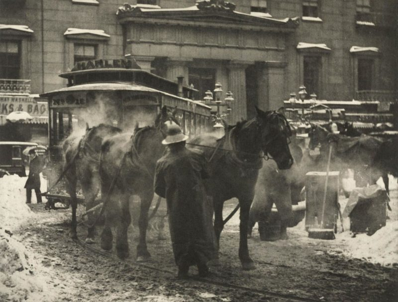 "Alfred Stieglitz's ""The Terminal"" showing the NY & Harlem Railroad"