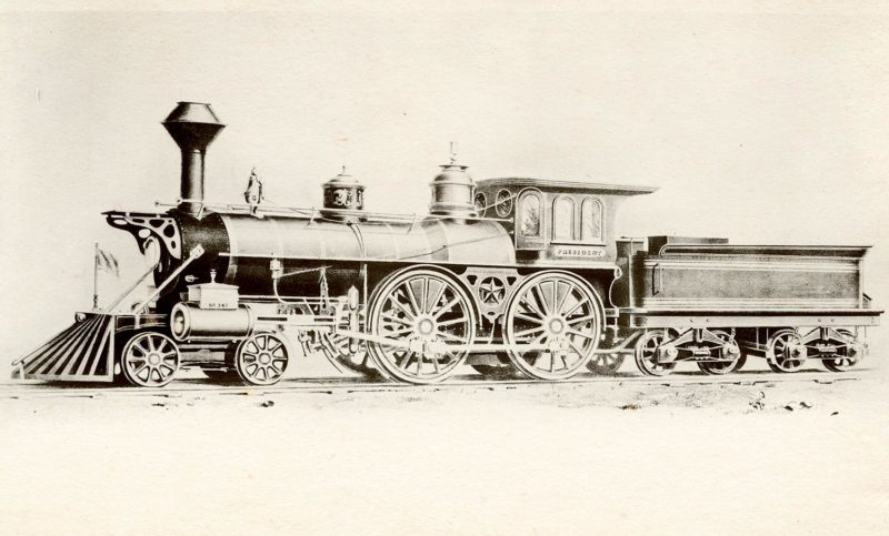 New York & Harlem #41, built 1865, Taunton Locomotive. From the Robert Schmied Negative Collection, Steamtown.