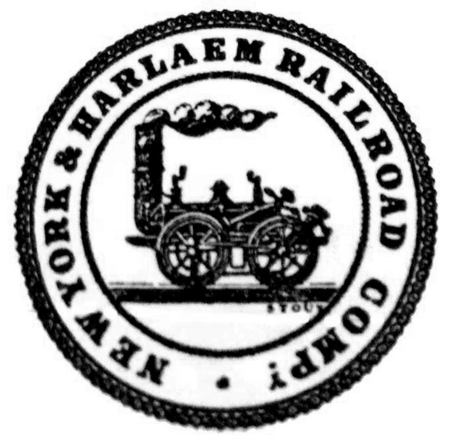 An early Harlem logo appearing on stock certificates