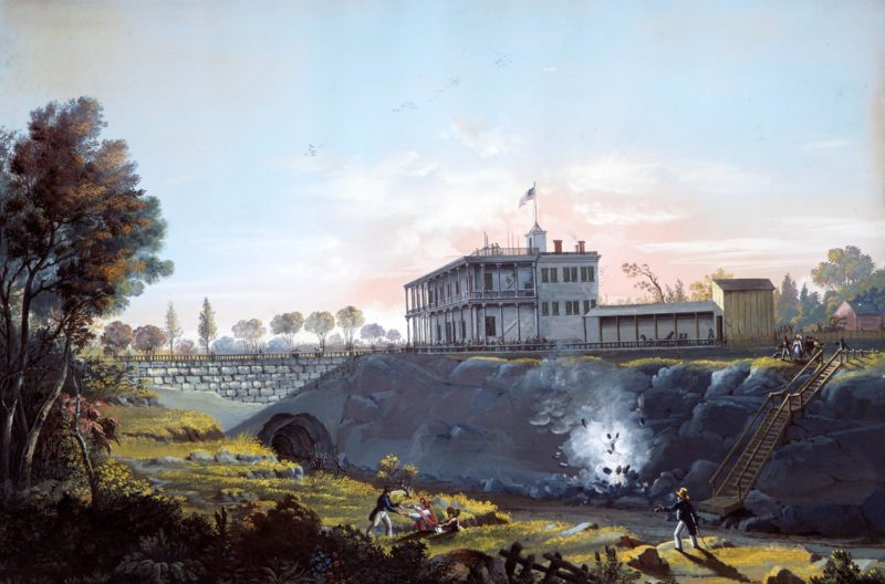 View of the Tunnel of the Harlem Railroad by Nicolino Calyo, circa 1837.