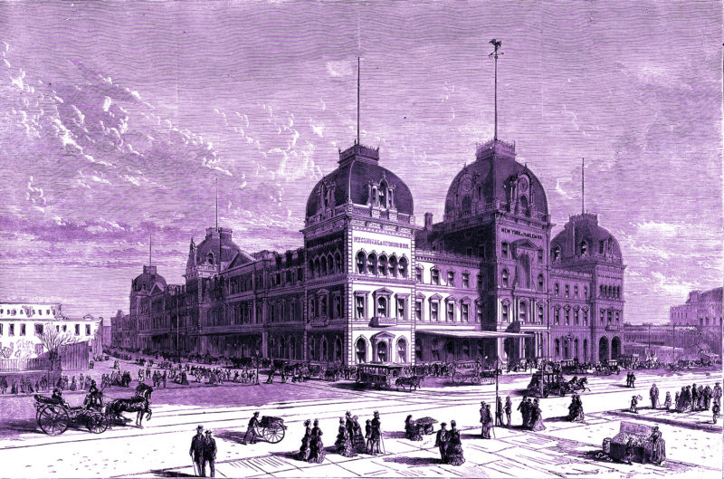 An engraving of Grand Central Depot