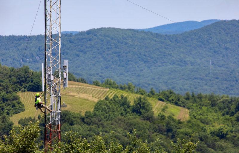 Climbing a tower in Virginia...