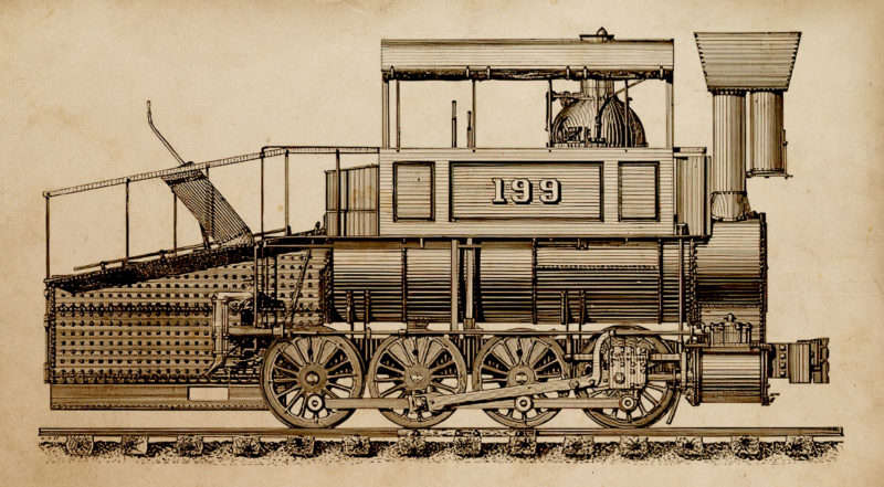In the 1840s the Harlem operated 3 Winans 0-8-0 Camel locomotives, similar to the one in this engraving.