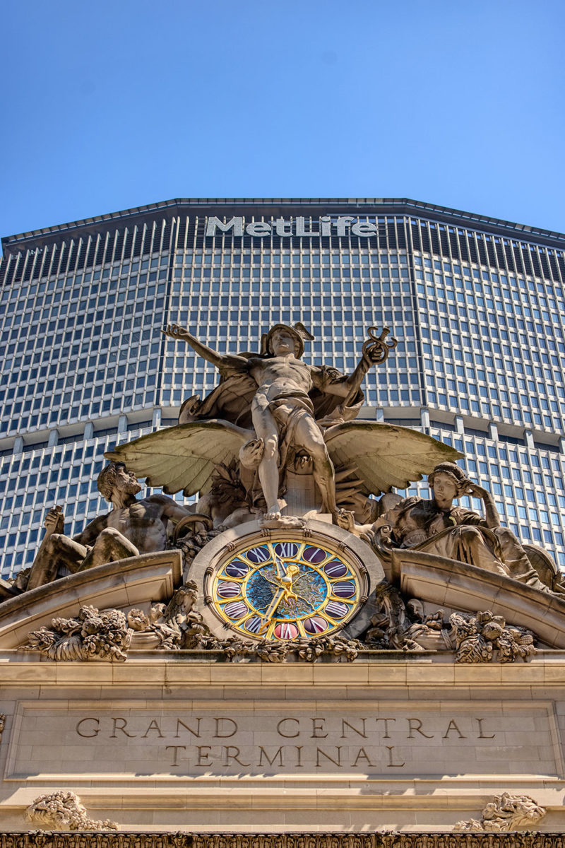 The statuary group atop Grand Central
