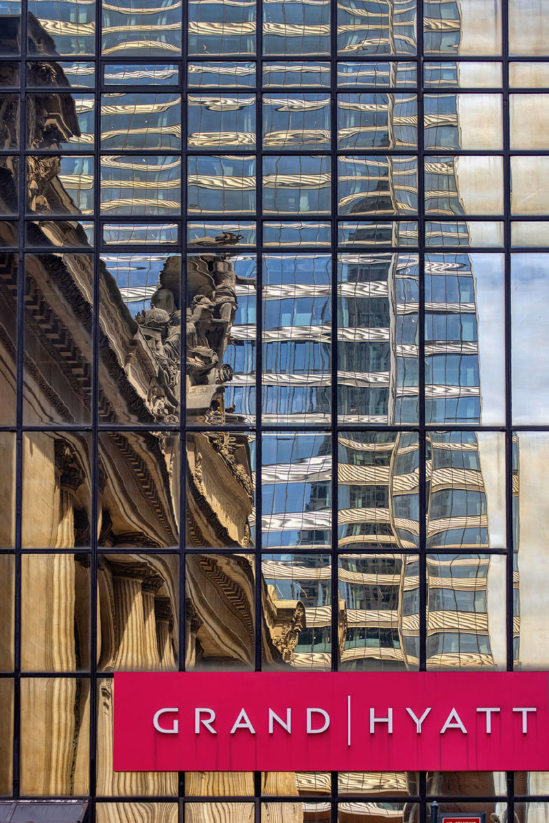 Reflections upon the Grand Hyatt will not last for much longer...