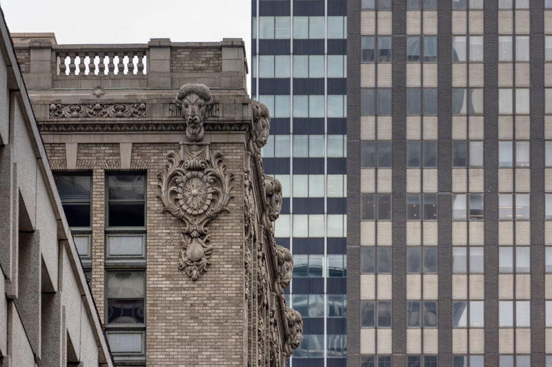 The many rams atop the New York Central building