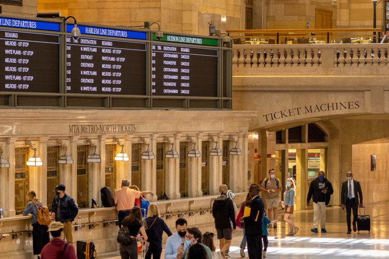 Grand Central on Friday morning after the storm