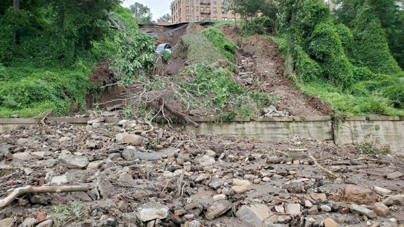 Hudson Line damage, photo courtesy Metro-North