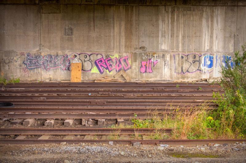 Abandoned yard tracks near EAGLE block