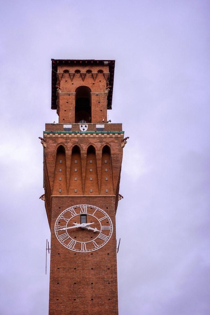 Waterbury's notable clock tower