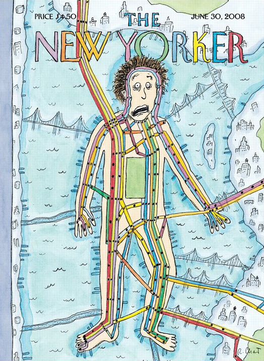 Railroad scenes on the cover of The New Yorker I Ride The Harlem